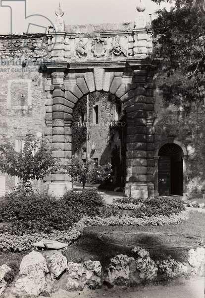 Entrance portal of the Teatro Olimpico in Vicenza