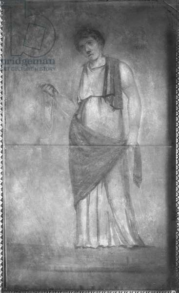 Phaedra, 27 BC-14 AD (fresco) (b/w photo)