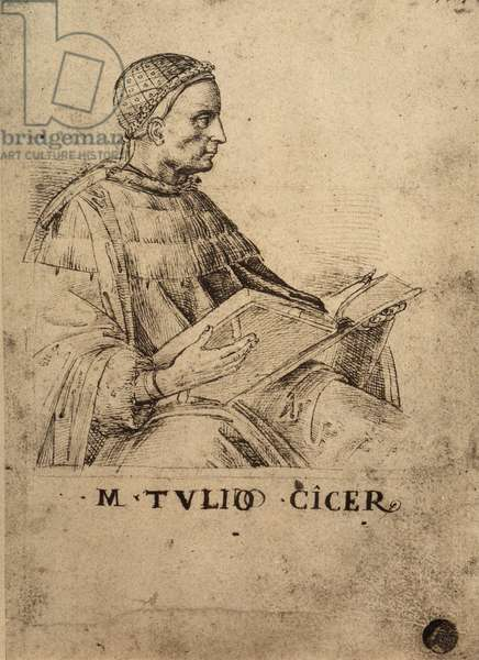 Cicero; drawing by Raphael. Gallerie dell'Accademia, Venice