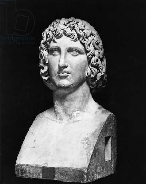 Bust of Virgil (70-19 BC) (stone) (b/w photo)