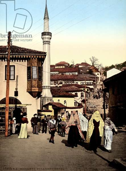 Neighbourhood of Sarajevo during the Austro-Hungarian Empire, c.1900-10 (photo)