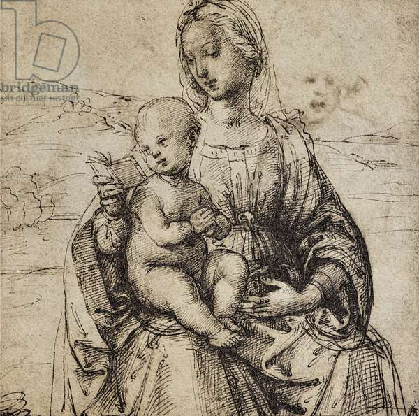 Study for a Virgin and Child; drawing by Raphael. The Louvre, Paris