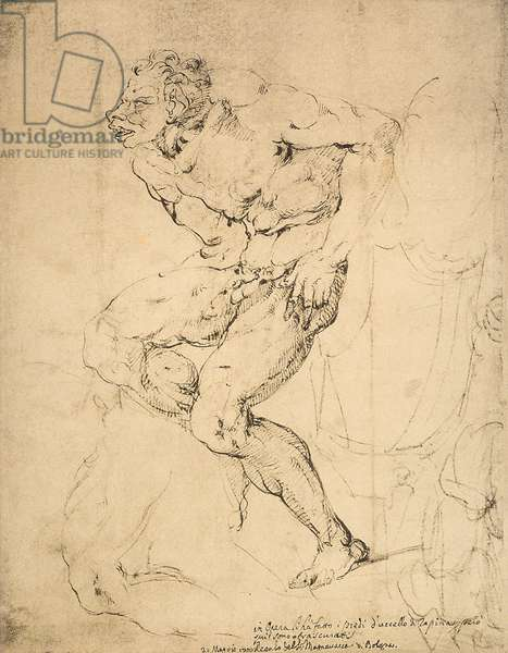 A devil, drawing by Michelangelo. Gabinetto dei Disegni e delle Stampe, Uffizi Gallery, Florence