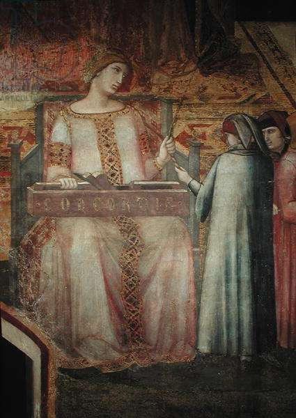 Allegory of Good Government, detail of Concord, 1338-40 (fresco)
