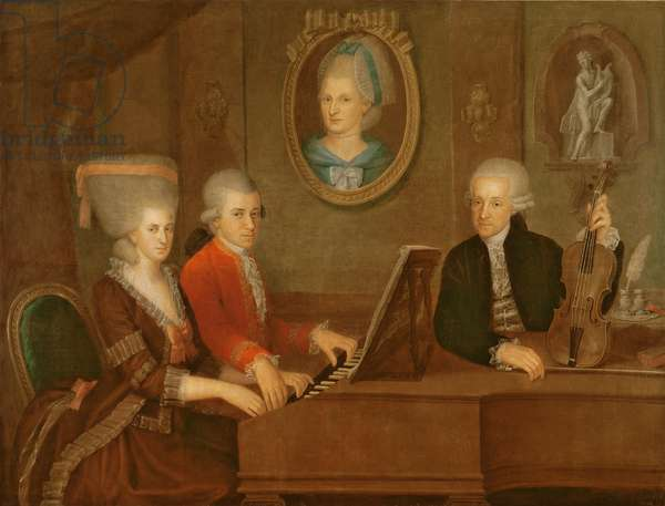 The Mozart family, 1780-81 (oil on canvas)