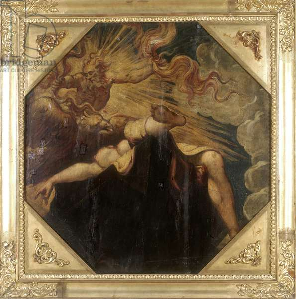 Semele burned by Jupiter, c.1541 (oil on canvas) (see also 2384621)