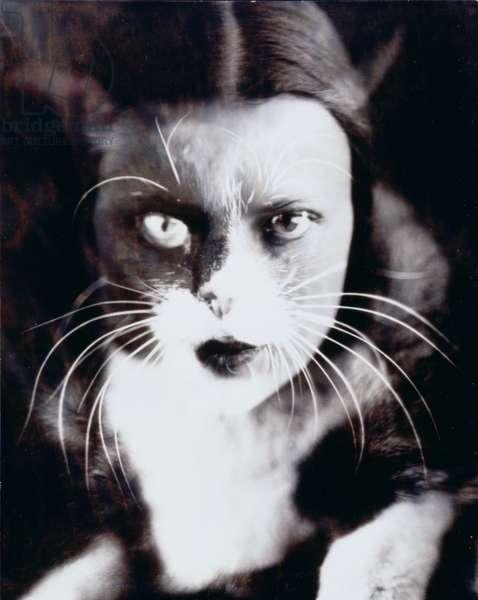 Cat and I, 1932 (photomontage)