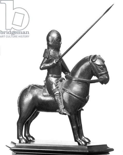 A Crusader (bronze) (b/w photo)