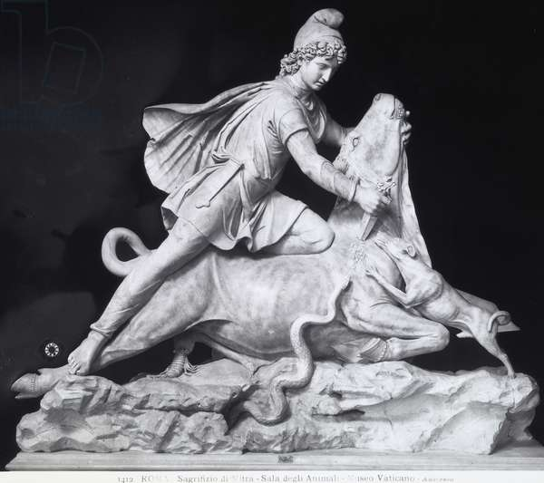 Mithras slaying the bull, the representation of the Mithraic cult (marble)