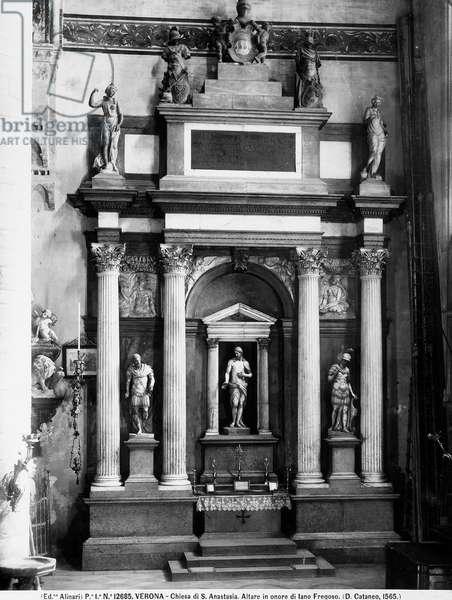 Architectonic altar in honour of Iano Fregoso, c.1565 (marble)