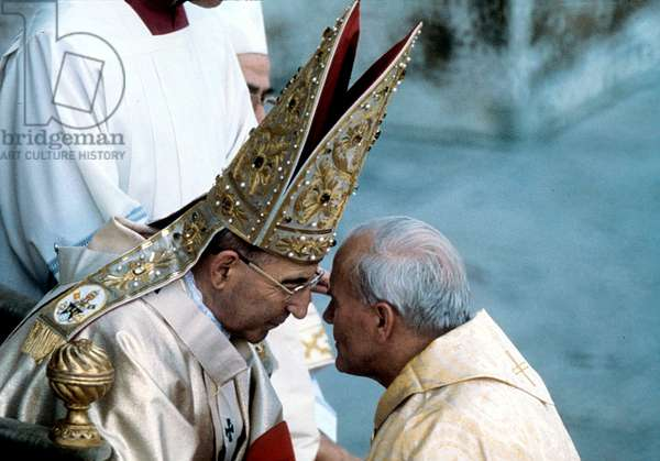 Pope Luciani with the Cardinal Woityla, future Pope John Paul II, 1978 (photo)
