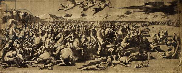 The Battle of Constantine; drawing by Raphael. The Louvre, Paris