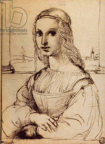 Study for the portrait of Maddalena Doni; drawing by Raphael. The Louvre, Paris