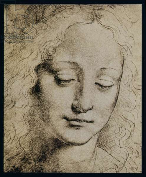 Head of a Young Girl (pencil on paper)