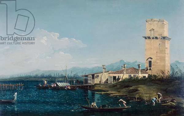 The tower of Marghera, by Canaletto and his assistants