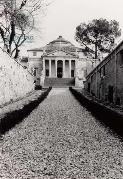 View from the back alley of Villa Almerico-Capra, called La Rotonda, in Vicenza