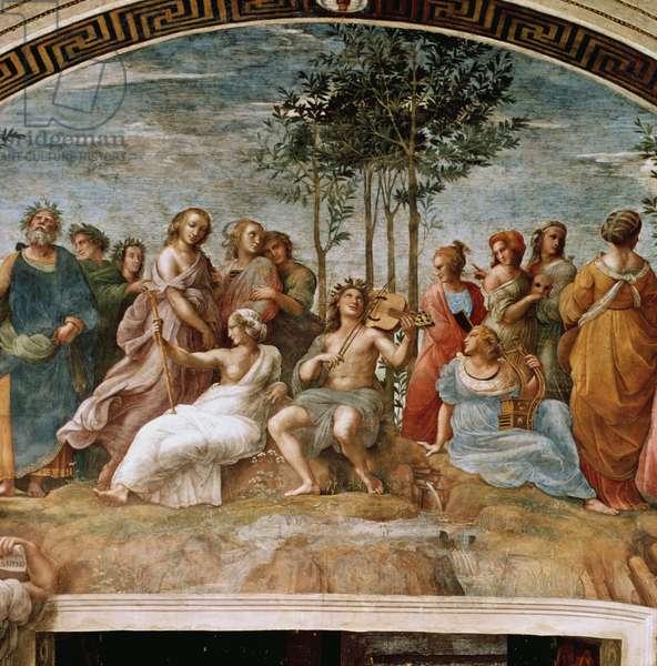 Parnassus, from the Stanza della Segnatura, 1510-11 (fresco)