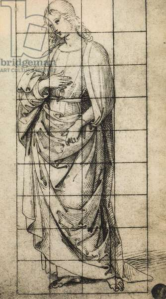 Study for a St. John the Evangelist; drawing by Raphael, Gallerie dell'Accademia, Venice