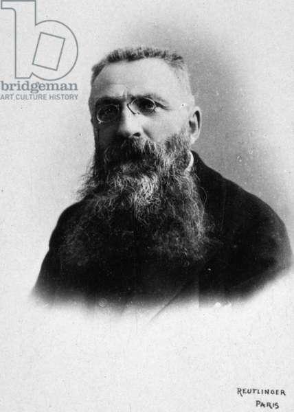 Auguste Rodin, c.1885-95 (b/w photo)