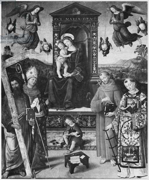 Sacred Conversation, 1508 (oil on wood)