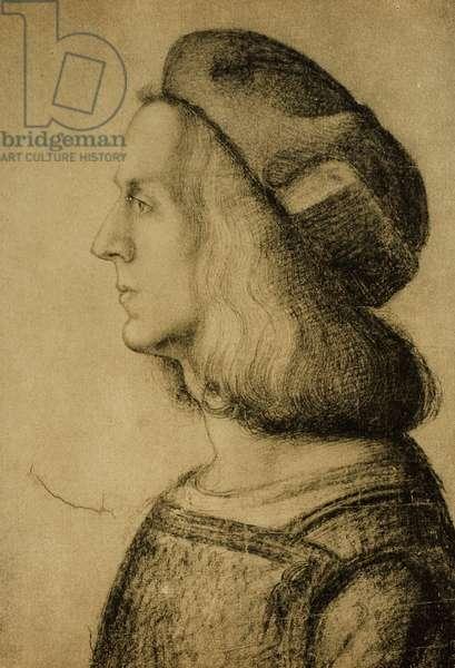 Bust of a man in profile, drawing by Leonardo da Vinci. Gabinetto dei Disegni e delle Stampe, Uffizi Gallery, Florence