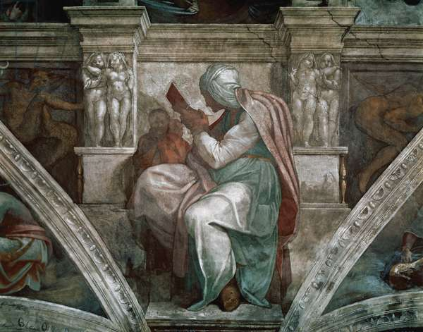 Persian Sibyl, detail from the Sistine Chapel ceiling, 1508-12 (fresco)