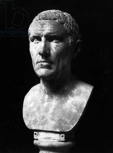 Bust of Marcus Claudius Marcellus (c.268-208BC) (marble)
