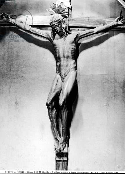 Crucifixion (wood) (b/w photo)
