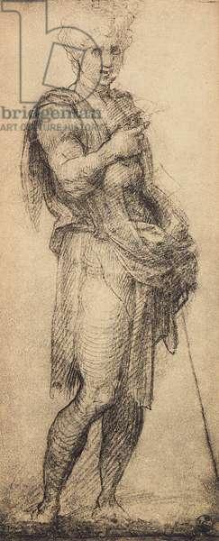 Study of a male figure, drawing by Andra del Sarto. Gabinetto dei Disegni e Stampe, Uffizi Gallery, Florence