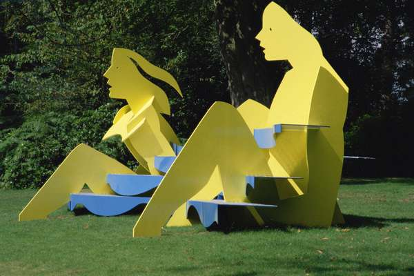 The Bathers, 2000 (painted steel)