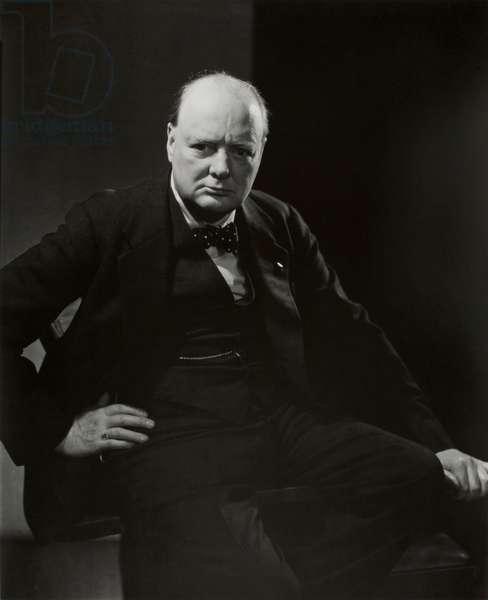 Winston Churchill, 1932 (gelatin silver print)