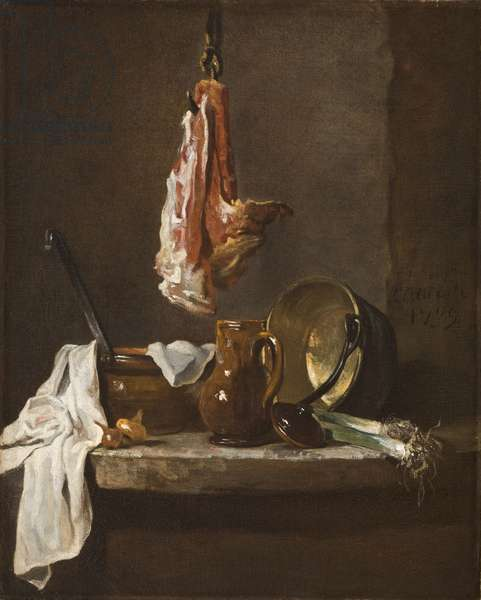 Still Life with a Rib of Beef, 1739 (oil on canvas)