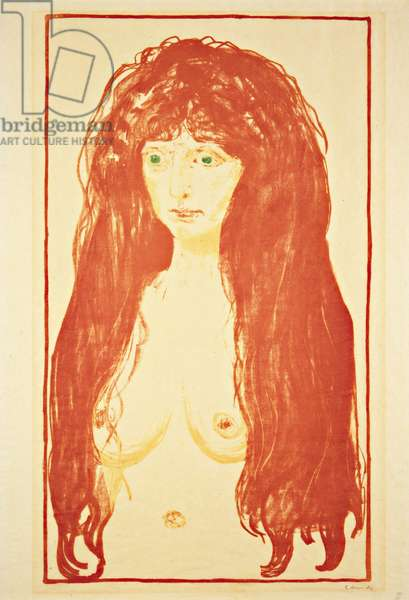 The Sin (Nude) 1902 (colour litho)