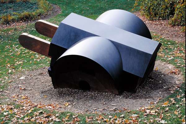 Giant Three-Way Plug, 1970 (cor-ten steel & polished bronze)