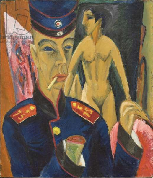 Self Portrait of a Soldier, 1915 (oil on canvas)