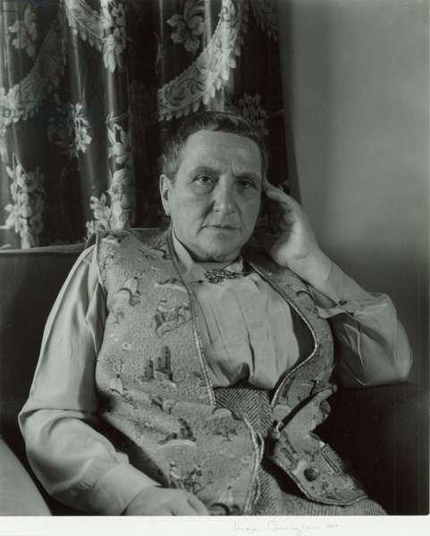 Gertrude Stein, 1935 (gelatin silver print)