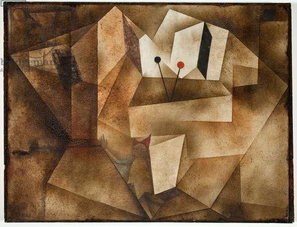 The Kettledrum Organ (Die Paukernorgel) 1930 (oil on paper board)