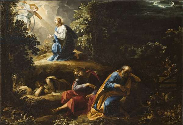 The Agony in the Garden (Christ on the Mount of Olives), 1597-98 (oil on canvas)
