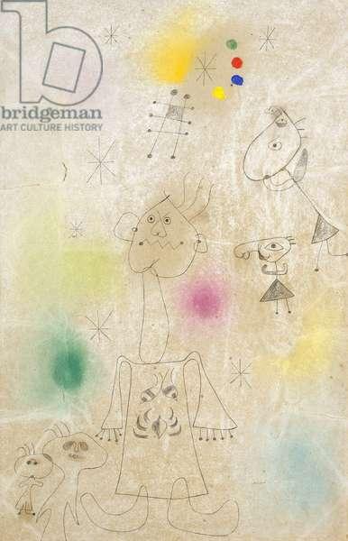 Women Dreaming of Escape, 1942 (pastel, gouache et crayon on pulpboard)