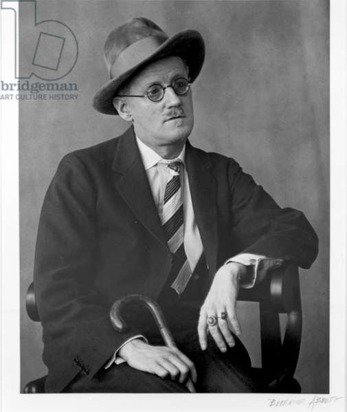 James Joyce with Hat, 1928 (gelatin silver print)