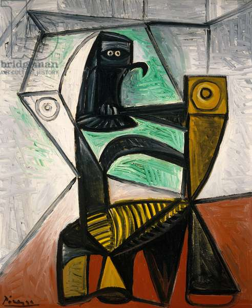 Chair and Owl, 1947 (oil on canvas)