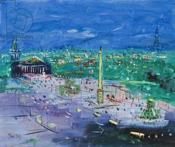 Place de la Concorde, 1924 (oil on canvas)