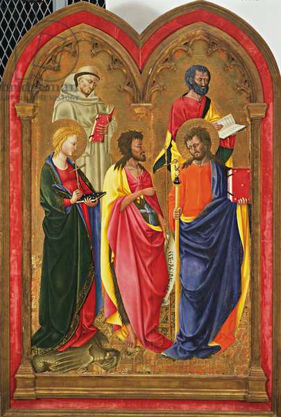 Altar Wing with Five Saints, c.1445 (tempera & gold on poplar panel)
