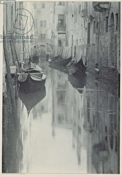 A Bit of Venice, negative 1894, published 1898 (toned photogravure)