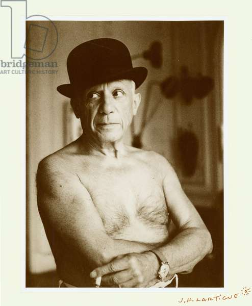 Untitled (Portrait of Pablo Picasso), 1950s (gelatin silver print)