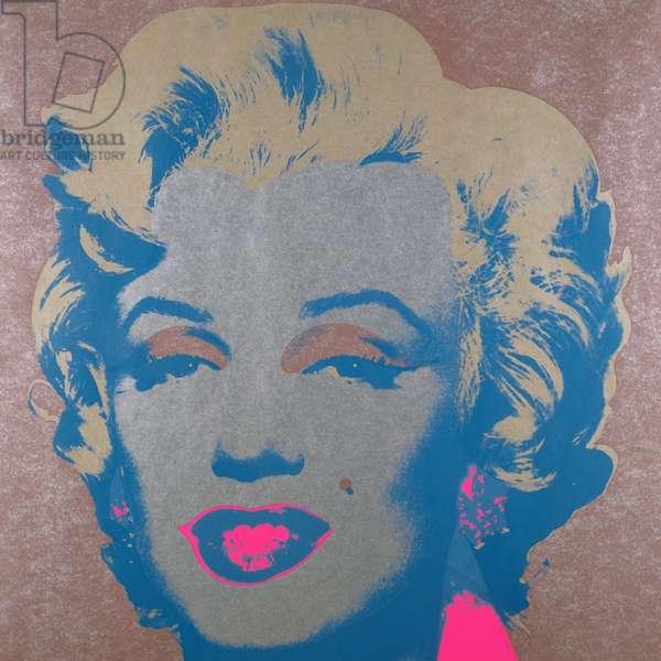 Marilyn Monroe, 1968 (colour silkscreen on silver paper)