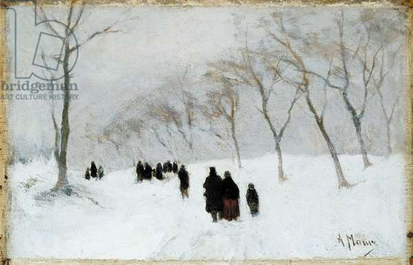 Snow Storm (oil on canvas)