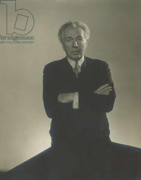 Frank Lloyd Wright, 1923-38 (gelatin silver print)