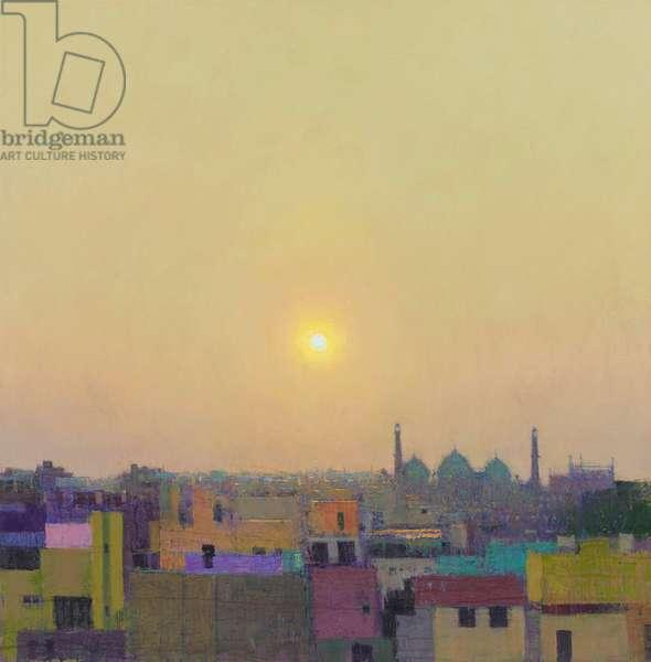 Sunset over Jama Masjid I