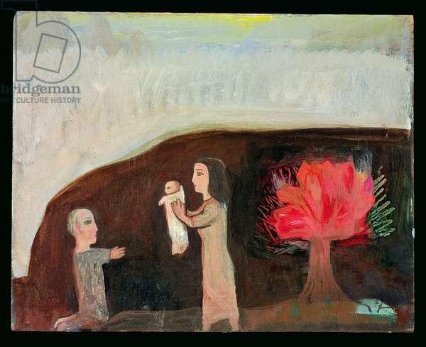 Nativity with Burning Bush, 1991 (oil on board)